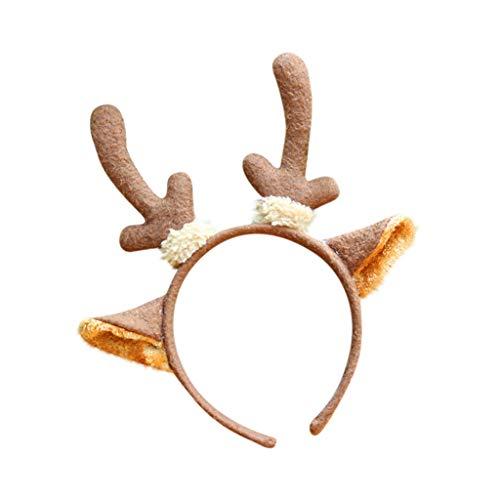 1 Pc Unisexe Bandeau Noël Bande Cheveux Bricolage Headband Elastique Extensible Hairband Twisted Cute Hair pour Décoration Accessoire Ornements de Cheveux Animal Antlers Bandeau