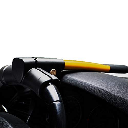 Antifurto di sicurezza universale, auto per impieghi gravosi, blocco del volante antifurto, blocco del volante di sicurezza anti-furto banderuola, blocco antifurto del veicolo, con 2 chiavi - giallo