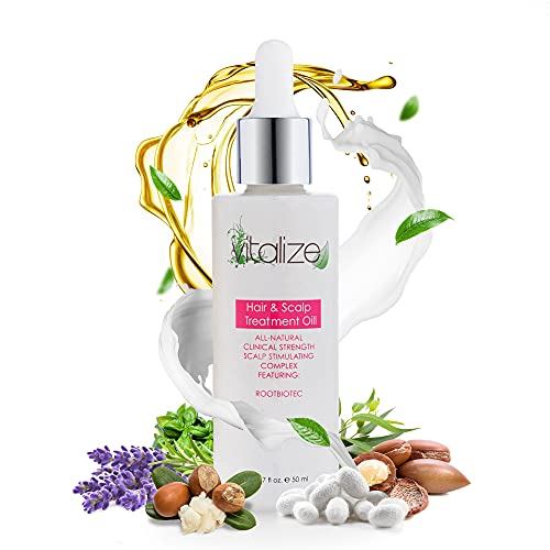 Vitalize Hair - Hair Oil Treatment for Healthy Hair and Scalp, Natural Hair Growth Oil with Argan...