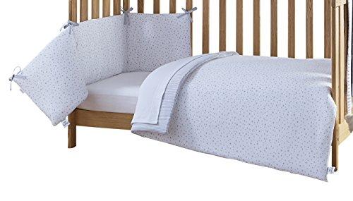Clair de Lune Cot Bed Set (Grey, Stars and Stripes, 2-Piece)