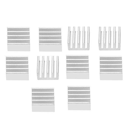 10 stücke Aluminium Chip Kühlkörper Schnelle Wärmeableitung für 3D Drucker A4988 mit Wärmeleitkleber
