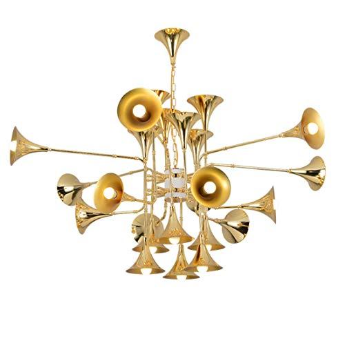 K.LSX gouden kroonluchter licht tinten plafond, moderne woonkamer hanglamp montage E27 basis, vintage metalen hanglamp
