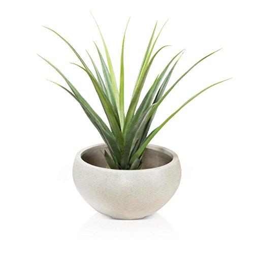 Pflanzschale Pflanzkübel ISLA Fiberglas - Farbe: terrazzo matt - stabile, wetter- und winterfeste Blumenschale, geeignet für Innen- und Außenbereiche, Gärten und Terrassen