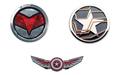 THE FALCON AND THE WINTER SOLDIER COMBO PACK PIN - The Official Marvel Studios Disney Plus, Enamel Lapel Pin, 3 Sets