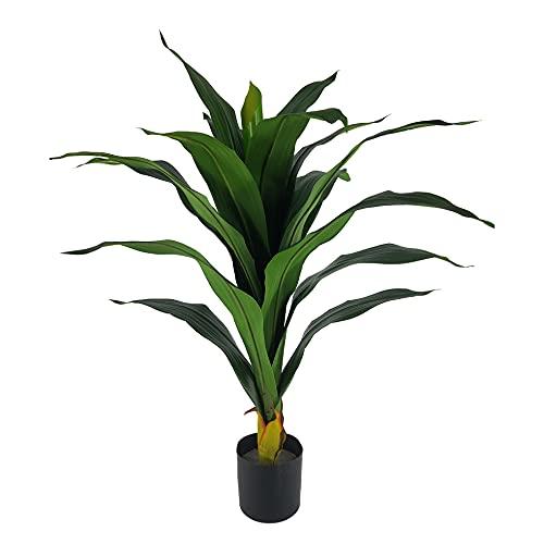 Yuko - Muebletmoi - Planta tropical artificial con hojas largas (altura +/- 80 cm)
