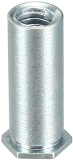 uxcell M3 x 0.5mm Pitch Hex Head Carbon Steel Blind Hole Self Clinching Standoff Nuts, Pack of 100