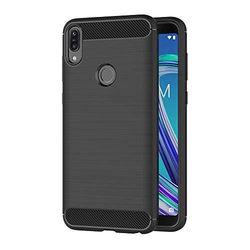 AICEK Cover Compatible ASUS Zenfone Max PRO (M1) ZB601KL, Nero Custodia ASUS ZB601KL Silicone Molle Black Cover per Zenfone Max PRO (M1) ZB601KL Soft TPU Case (5.99 Pollici)