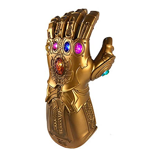 I3C Cosplay Avengers 4 Endgame Thanos War Infinity Gauntlet avec 6 pierres Gant Avengers avec LED pour costume Thanos (30 x 13 cm)
