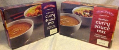 2 salsa di curry cinese Mayflower, extra calda e media