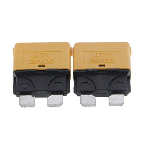 MagiDeal 12V Auto Rückstellbare Mini Klinge Sicherung manuelle Leistungsschalter - 20A, Grün