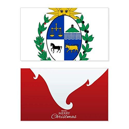 Uruguay Südamerika National Emblem Holiday Merry Christmas Karte Weihnachten Vintage Nachricht
