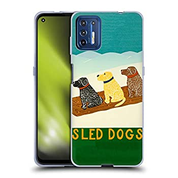 Head Case Designs Officially Licensed Stephen Huneck Sled Snow Dog Soft Gel Case Compatible with Motorola Moto G9 Plus