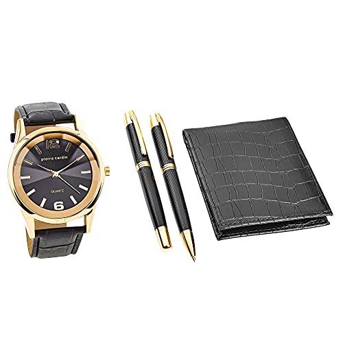 Juego de regalo para hombre Pierre Cardin con reloj cartera y dos bolígrafos