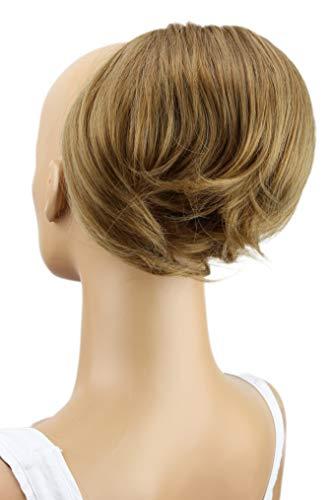 PRETTYSHOP Dutt Haarteil Zopf Haarknoten Hepburn-Dutt Haargummi Hochsteckfrisuren Braun Blond Mix HD11