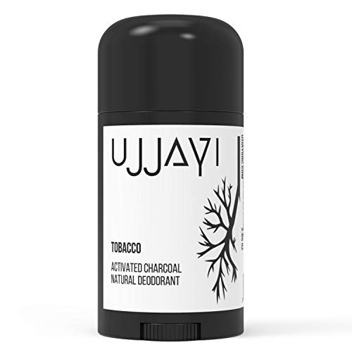 Ujjayi Natural Activated Charcoal Deodorant - Citrus Thyme - Vegan, Gluten Free, Cruelty Free and Made Without Aluminum Parabens and Sulfates - Handmade