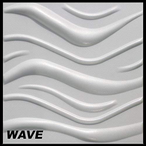 3D Wandpaneele Sparpaket - effektvolle Wandgestaltung mit detaillierten Polystyrolplatten, EPS deutliche Musterung, leicht und stabil - 10 qm 50x50cm Wave
