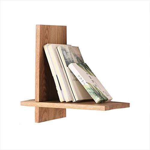 SYKLXBH Hölzernes Wand-hängendes Bücherregal, Bücherregal-Wand-hängendes Wohnzimmer Fernsehhintergrund-Wand-Regal-Holz-Farbe 30X15x30cm BücherschrankSYKLXBH
