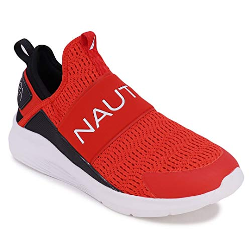 Nautica Men's Casual Fashion Sneakers-Walking Shoes-Lightweight Joggers-Bolton-Red-10