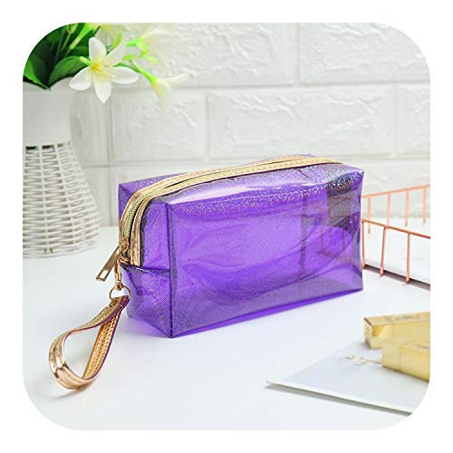 leaf-only Cosmétique Pull String Storage Bag, Fashion Women Laser Cosmetic Bag Box Design Grand Capacity Female Makeup Bag Easy to Travel Lady Small Travel Bag-101-3-