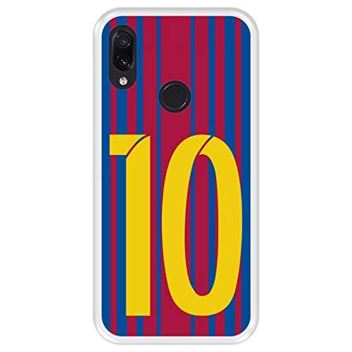Hapdey Funda Transparente para [ Xiaomi Redmi Note 7 - Note 7 Pro ] diseño [ Ilustración fútbol, número 10 ] Carcasa Silicona Flexible TPU
