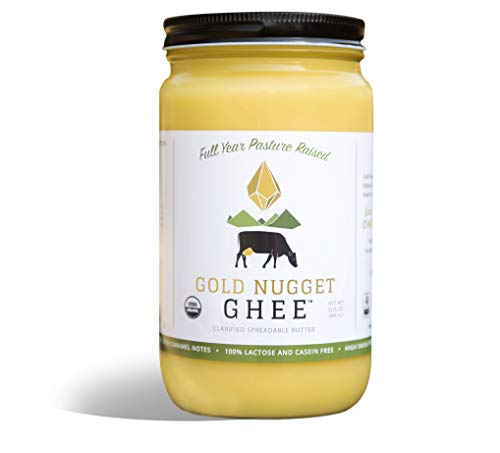 TRADITIONAL GHEE BY GOLD NUGGET GHEE, USDA ORGANIC, FULL-YEAR/PASTURE-RAISED, GRASS-FED BUTTER 32oz