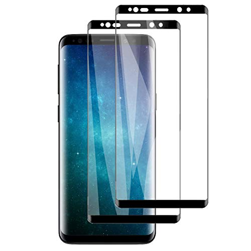 PUUDUU [2 Pack Protector de Pantalla para Samsung S9 Plus, Sin Burbujas, Anti-Rasguños, HD Transparente,Cristal Templado Protector de Pantalla para Samsung S9 Plus