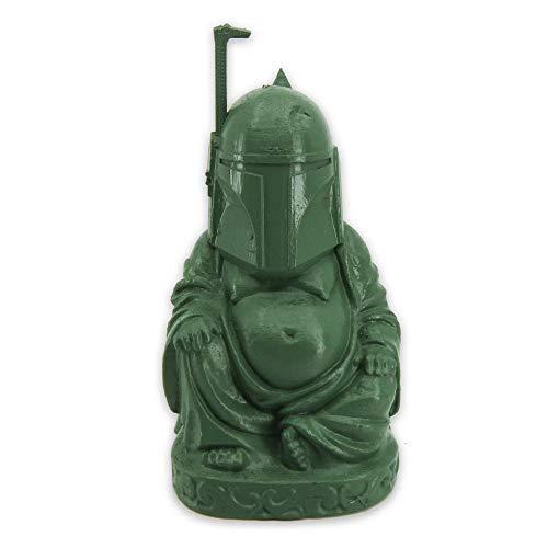muckychris Boba Fett Buddha   Star Wars   Mandalorian   Moss Green 2'