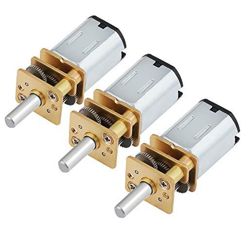 HSEAMALL 30RPM 6V DC Mikro Verringerung Geschwindigkeit Motors,Mini-Getriebemotor,Elektrischer Getriebemotor 3 Stück