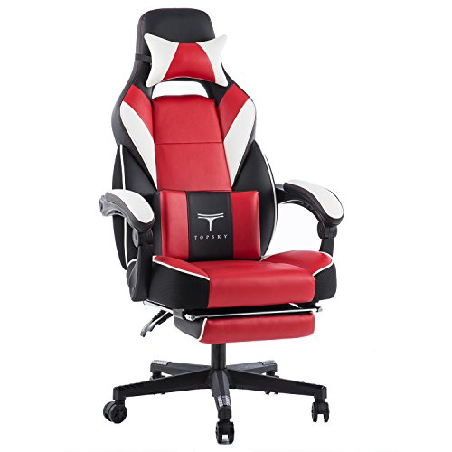 TOPSKY High Back Racing Style PU Leather Executive Computer Gaming Office Chair Ergonomic Reclining...