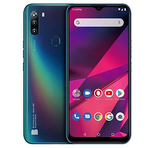 "BLU G90-6.5"" HD+ Smartphone with Triple Main Camera, 64GB+4GB RAM and Android 10 -Blue (Renewed) California"