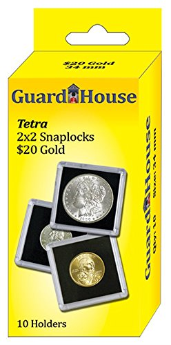 Guardhouse Tetra Snap Lock 2×2 20 Dollar Gold Coin Holder 10 pk