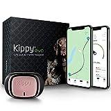 KIPPY - Evo - Le Nouveau Collier GPS avec Suivi d'Activité pour Chiens et Chats, 38 GR, Waterproof, durée 10 Jours, Pink Petal