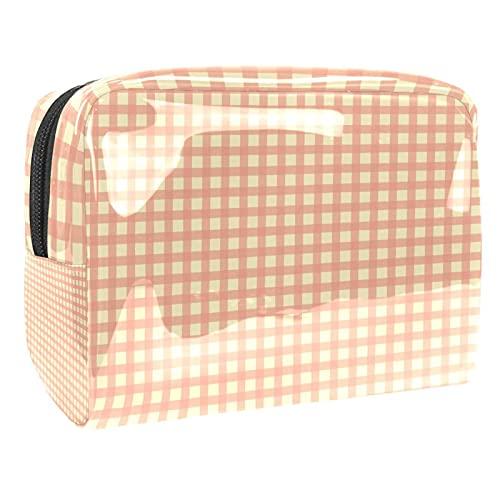 Patrón de rebanada de limón 18.5x7.5x13cm Kit de viaje para hombres y mujeres Neceser lavado bolsa portátil
