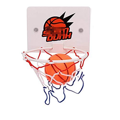 MHCYKJ Mini Canasta Baloncesto Pared Juego De Aro para Niños Basquetbol con Bola Y Bomba Infantil Portátiles Juguetes Bebe Juegos