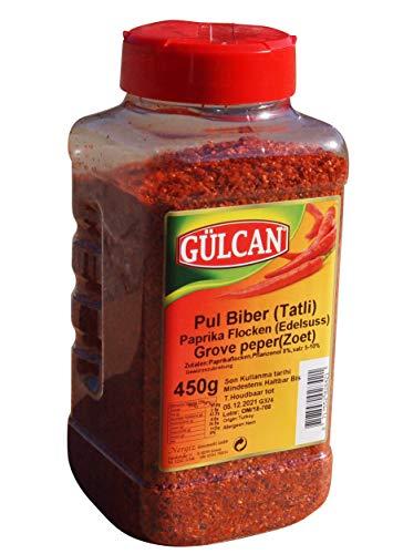 Pul Biber - XL Dose Chiliflocken Zubereitung Edelsüss - Tatli pul biber (450g)