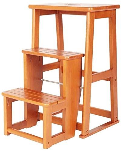 YAOSHI Puf heces Utilidad de Madera Paso a IKEA Soporte de sobremesa Planta de bambú tural, Estante de Escritorio Estante, Brown fácil Montaje