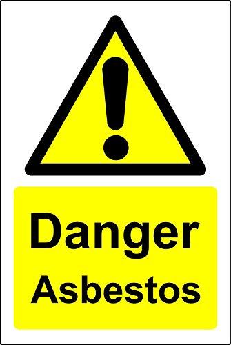Waarschuwingsbord Gevaar asbest Veiligheidsbord - Zelfklevende sticker 150mm x 100mm