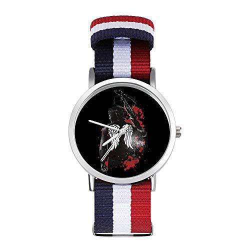 Walking Dead Daryl Dixon Flügel und Armbrust Freizeit Armband Uhren Geflochtene Uhr mit Skala