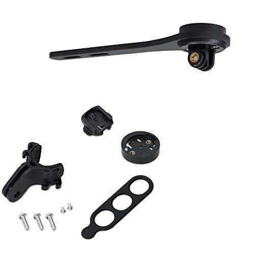 kwmobile Soporte GPS Compatible con Garmin Edge/Bryton Rider/CatEye - Base Antideslizante Manillar de Bicicleta - Negro Mate