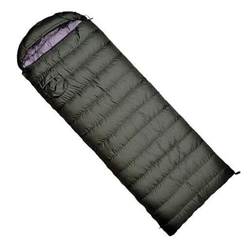 PANXIAO Ultraleicht-Schlafsack, Gemütlich Gans Daunenschlafsack, Multifunktionsreisetasche, geeignet for Camping und Wandern Rucksäcke (Color : Black 800g)