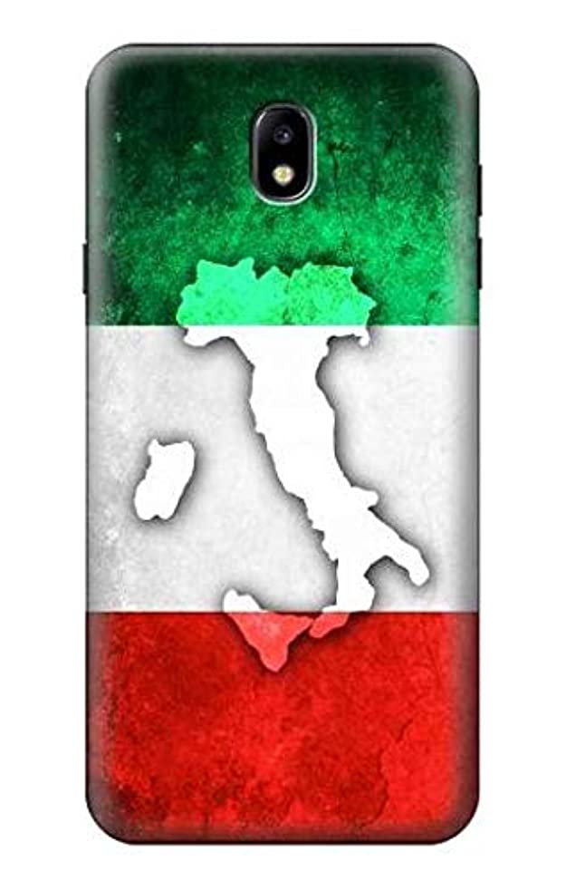 R2338 Italy Flag Case Cover for Samsung Galaxy J7 (2018), J7 Aero, J7 Top, J7 Aura, J7 Crown, J7 Refine, J7 Eon, J7 V 2nd Gen, J7 Star