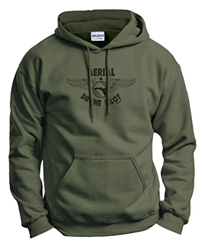 Quadcopter Gifts Aerial Drone Pilot Quadcopter Hoodie Sweatshirt Medium MlGrn [Apparel]