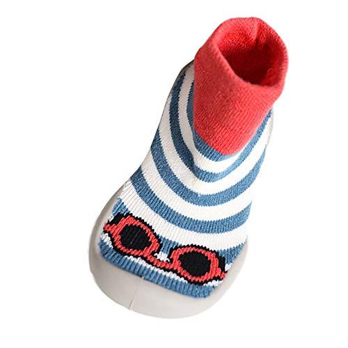 Mitlfuny Niños Niñas Invierno Otoño Zapatillas Calcetines de Piso Suela de Goma Tejer...