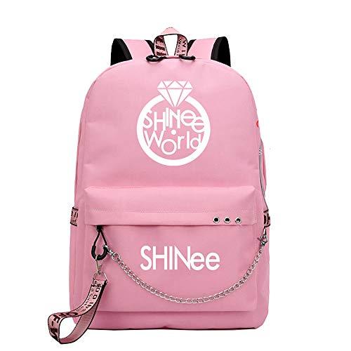 Shinee Rucksack für Kinder und Jugendliche Einfacher Schule-Rucksack Computer-Rucksack mit USB-Ladeanschluss Canvas Rucksack zufälligen Rucksacks Kinder (Color : A13, Size : 32 X 15 X 45cm)