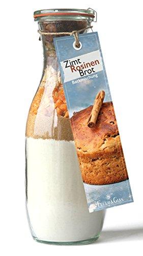 Backmischung im Weckglas für Zimt-Rosinen-Brot- Raffinierte Geschenkidee für Backfreunde- Backzutaten für die einfache Zubereitung von Zimt-Rosinen-Brot- Gourmetbackmischung von Feuer & Glas