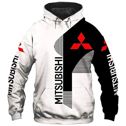 N/A-SHAOFA Hoodies Jacken Dünn 3D Mitsubishi Voll Drucken Pullover Männer&Damen Beiläufig Polyester Sweatshirt Draussen / A1 / XXXXL
