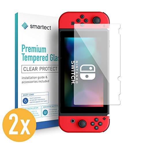 smartect Panzerglas kompatibel mit Nintendo Switch 2019/2018 / 2017 [2 Stück] - Displayschutz mit 9H Härte - Blasenfreie Schutzfolie - Anti Fingerprint Panzerglasfolie