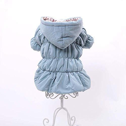 LIUCHANG Disfraz de princesa para perro o mascota con capucha y estampado floral, falda de burbujas para niña, perro o gato, abrigo de invierno (color: azul, talla: XL) liuchang20