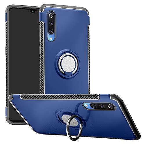 LFDZ Xiaomi Mi 9 Se Anillo Soporte Funda, 360 Grados Giratorio Ring Grip con Gel TPU Case Carcasa Fundas para Xiaomi Mi 9 Se Smartphone (Not fit Xiaomi Mi 9),Azul