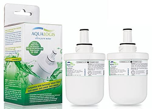 2 x Aqualogis AL-093F Filtres Remplacer Samsung Aqua-Pure Plus DA29-00003F filtre frigo